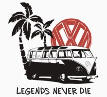Legends Never Die - Retro BULLY T-Shirt by MILK-Lover