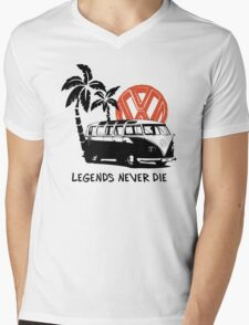 Legends Never Die - Retro BULLY T-Shirt Mens V-Neck T-Shirt