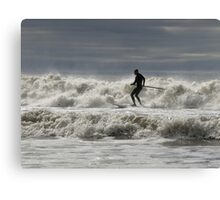 Paddle boarder at Aberavon Beach Canvas Print