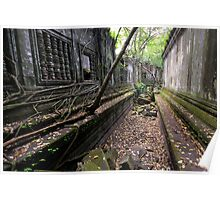 Beng Mealea temple, Cambodia Poster