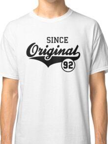Original SINCE 1992 Birthday Anniversary T-Shirt Black Classic T-Shirt