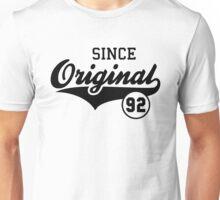 Original SINCE 1992 Birthday Anniversary T-Shirt Black Unisex T-Shirt