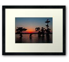 Kayaking at Sunset on Lake Martin, Louisiana Framed Print