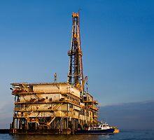Galveston Bay Rig by Paul Wolf