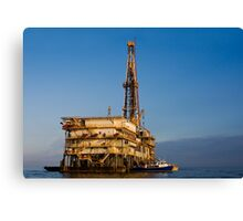 Galveston Bay Rig Canvas Print