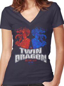 Twin Dragon Martial Arts Women's Fitted V-Neck T-Shirt
