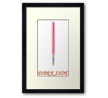 dark side saber Framed Print