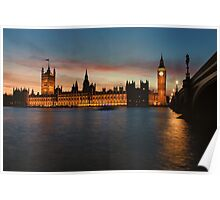 Houses of Parliament Poster