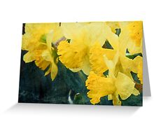 With Bobbing Yellow Heads Greeting Card
