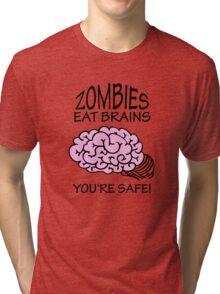 Zombies eat Brains VRS2 Tri-blend T-Shirt