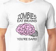 Zombies eat Brains VRS2 Unisex T-Shirt