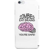 Zombies eat Brains VRS2 iPhone Case/Skin