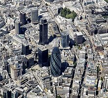 London City and The Gherkin  by Kasia-D