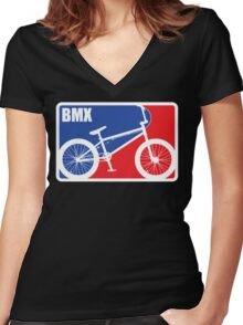 BMX Women's Fitted V-Neck T-Shirt