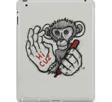 Monkey Saying 'Hi Cuz' iPad Case/Skin