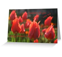 Happy Mother's Day tulips. Greeting Card