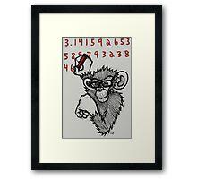 Monkey Doing Pi Framed Print