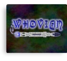 Whovian Screwdriver Canvas Print