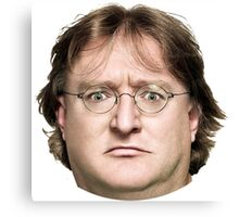 Gabe Newell's Amazing Face Canvas Print