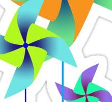 three pinwheels Sticker
