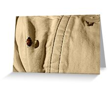 Ladybug on Sleeve Greeting Card