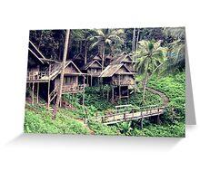 Thailand Tree Huts  Greeting Card
