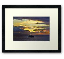 The Voyage Home Framed Print