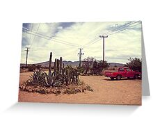 Mexican Desert Truck Greeting Card