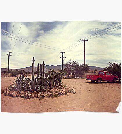 Mexican Desert Truck Poster