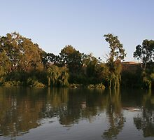 Murray reflections,Purnong,South Australia. by elphonline