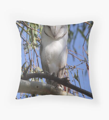 30 hoots and I will be back  Barn Owl Canberra Australia  Throw Pillow