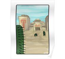 Desert Temple Poster