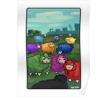 Multicolor Sheep Poster