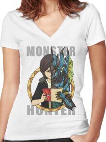 Hunter's Life (Souma Custom) Women's Fitted V-Neck T-Shirt