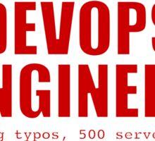 Devops Engineer (Red) Sticker
