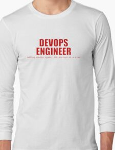 Devops Engineer (Red) Long Sleeve T-Shirt