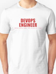 Devops Engineer (Red) Unisex T-Shirt