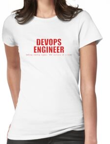 Devops Engineer (Red) Womens Fitted T-Shirt