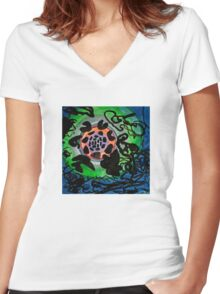 Space Debris Women's Fitted V-Neck T-Shirt
