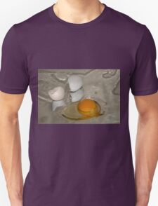 Raw egg and broken egg shell Unisex T-Shirt