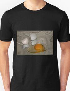 Raw egg and broken egg shell T-Shirt