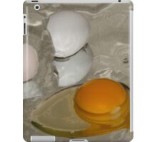 Raw egg and broken egg shell iPad Case/Skin