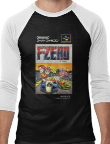 F-Zero Nintendo Famicom Box Art (NES) Men's Baseball ¾ T-Shirt