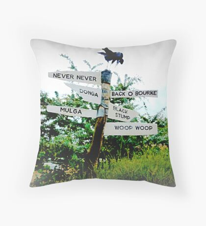 Wet & Cold at Woop Woop - Castlemaine Throw Pillow