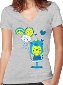 Brighter Day Women's Fitted V-Neck T-Shirt