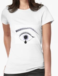 Inky Tear Womens Fitted T-Shirt