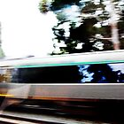 Moving Train From Another Train - 15 04 13 by Robert Phillips