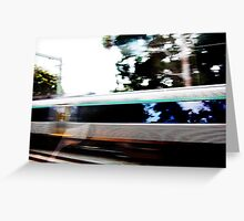 Moving Train From Another Train - 15 04 13 Greeting Card