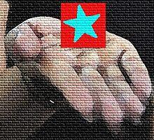 Hand star blue by eliso silva