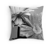 Two Flowers and a Stem Throw Pillow